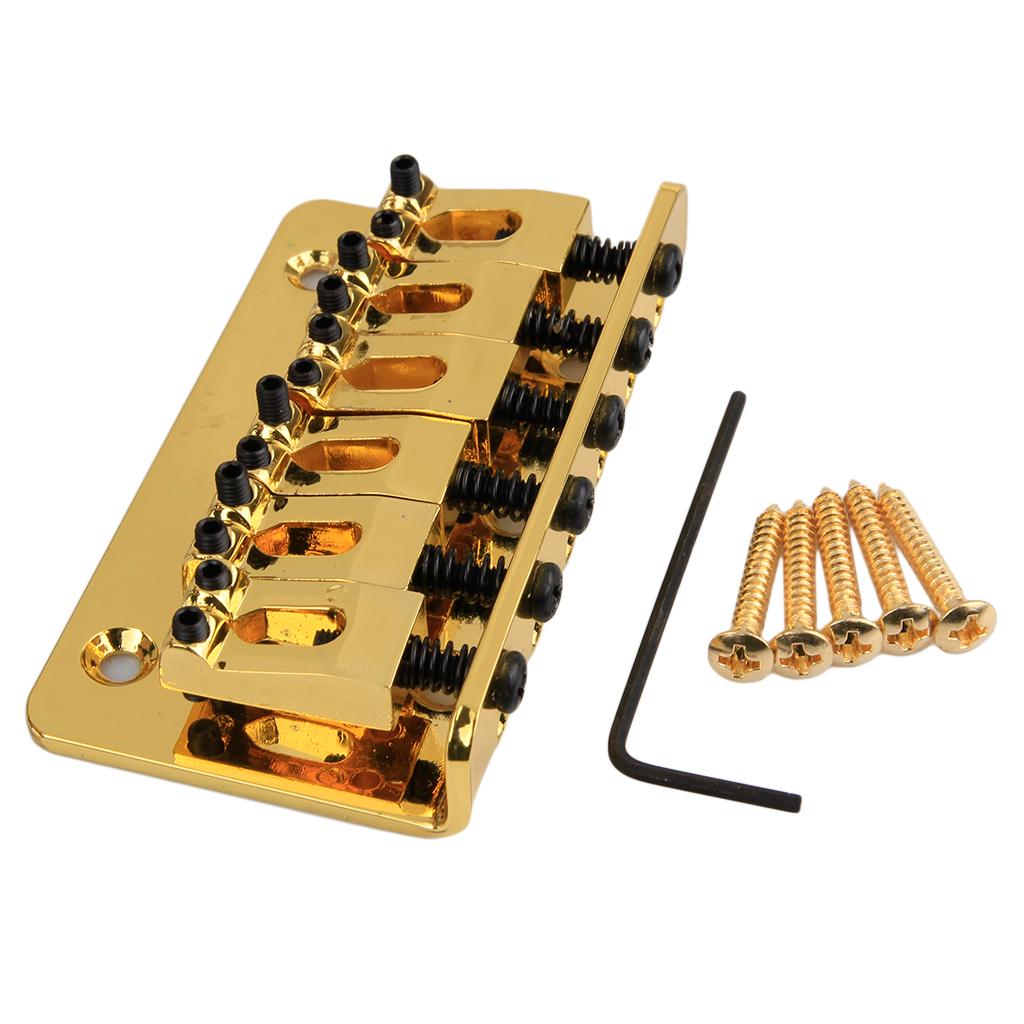 6 string electric guitar bridge 6 saddle hardtail top load ebay. Black Bedroom Furniture Sets. Home Design Ideas