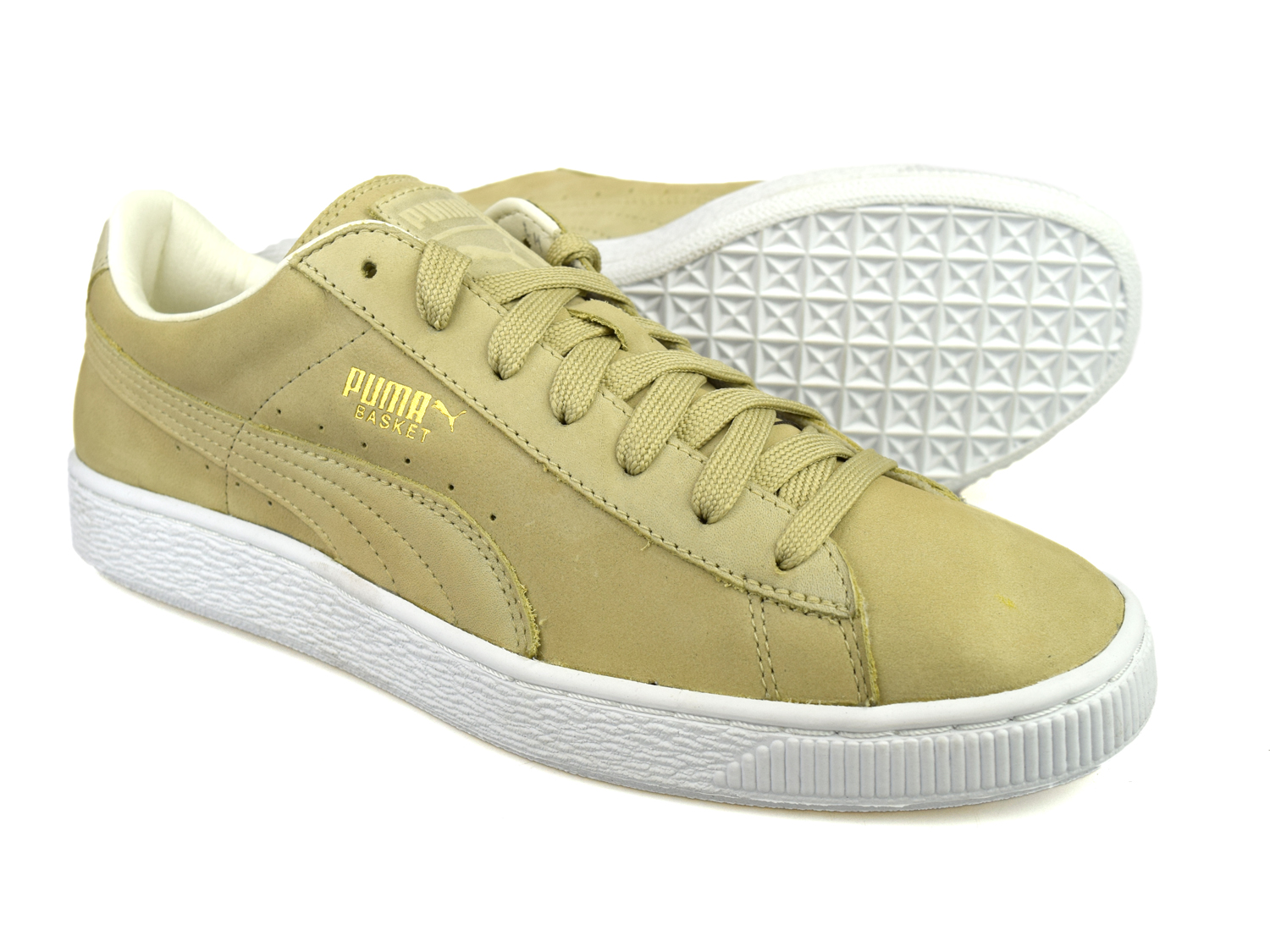 puma basket citi series pale khaki beige nubuck leather. Black Bedroom Furniture Sets. Home Design Ideas
