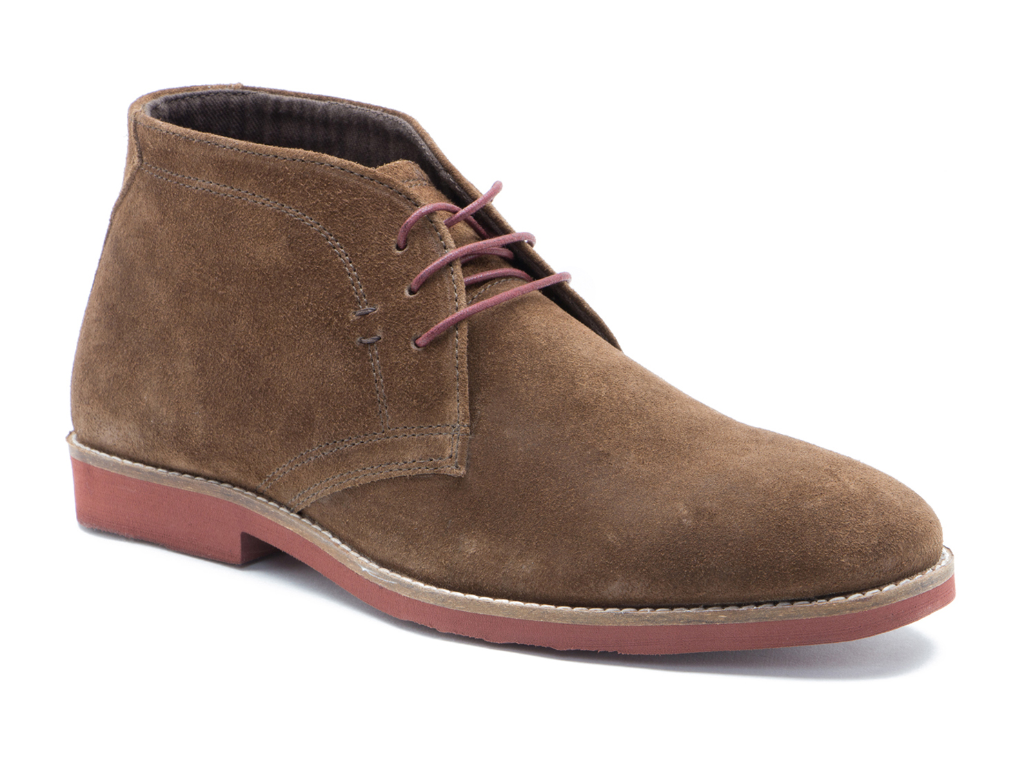 red tape dorney brown suede mens casual desert boots ebay. Black Bedroom Furniture Sets. Home Design Ideas