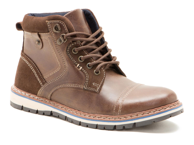 Red Tape Bisham Brown Leather Mens Worker Chukka Boots Free UK P/&P RRP £55!