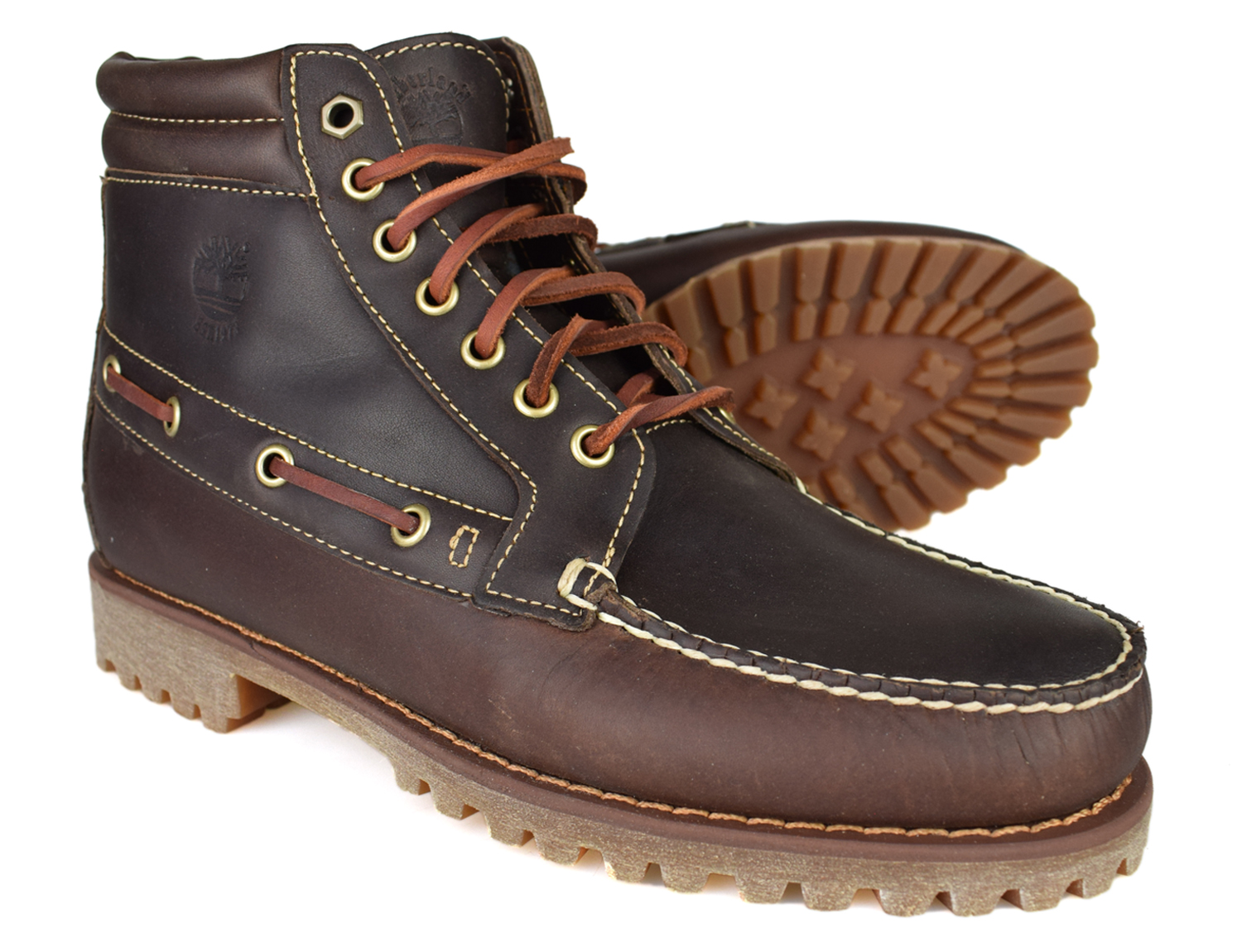 e275c1405c97 Details about Timberland Pendleton Brown Leather 7 Eye Chukka Boots A13F1  Free UK P P!