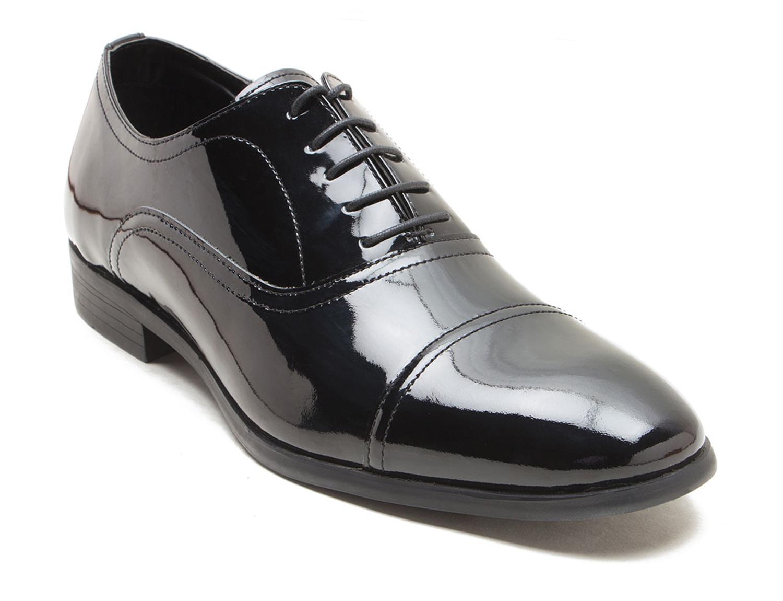 Detalles de RED TAPE Boston Charol Negro Zapatos Formales Para Hombre