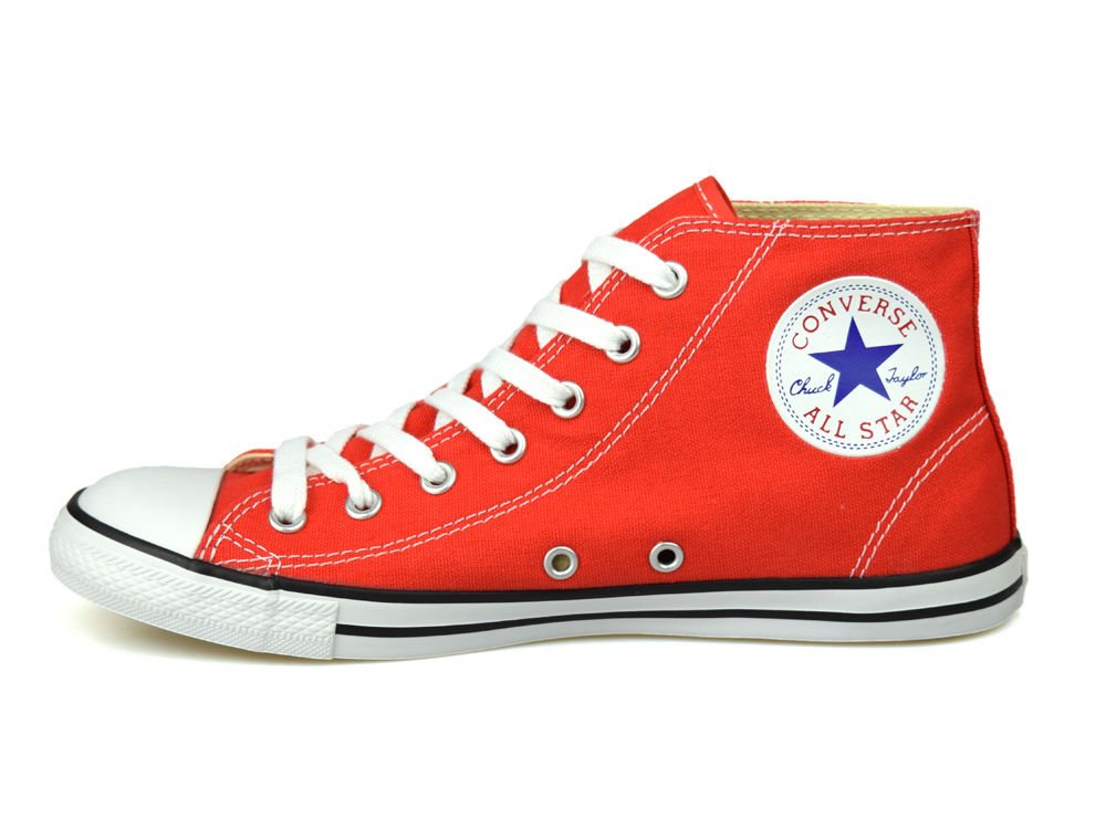 da078930436c52 Converse Chuck Taylor All Star Dainty Mid Carnival Red UK 3-5.5