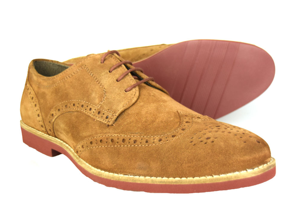 Red Tape Brogues In Suede