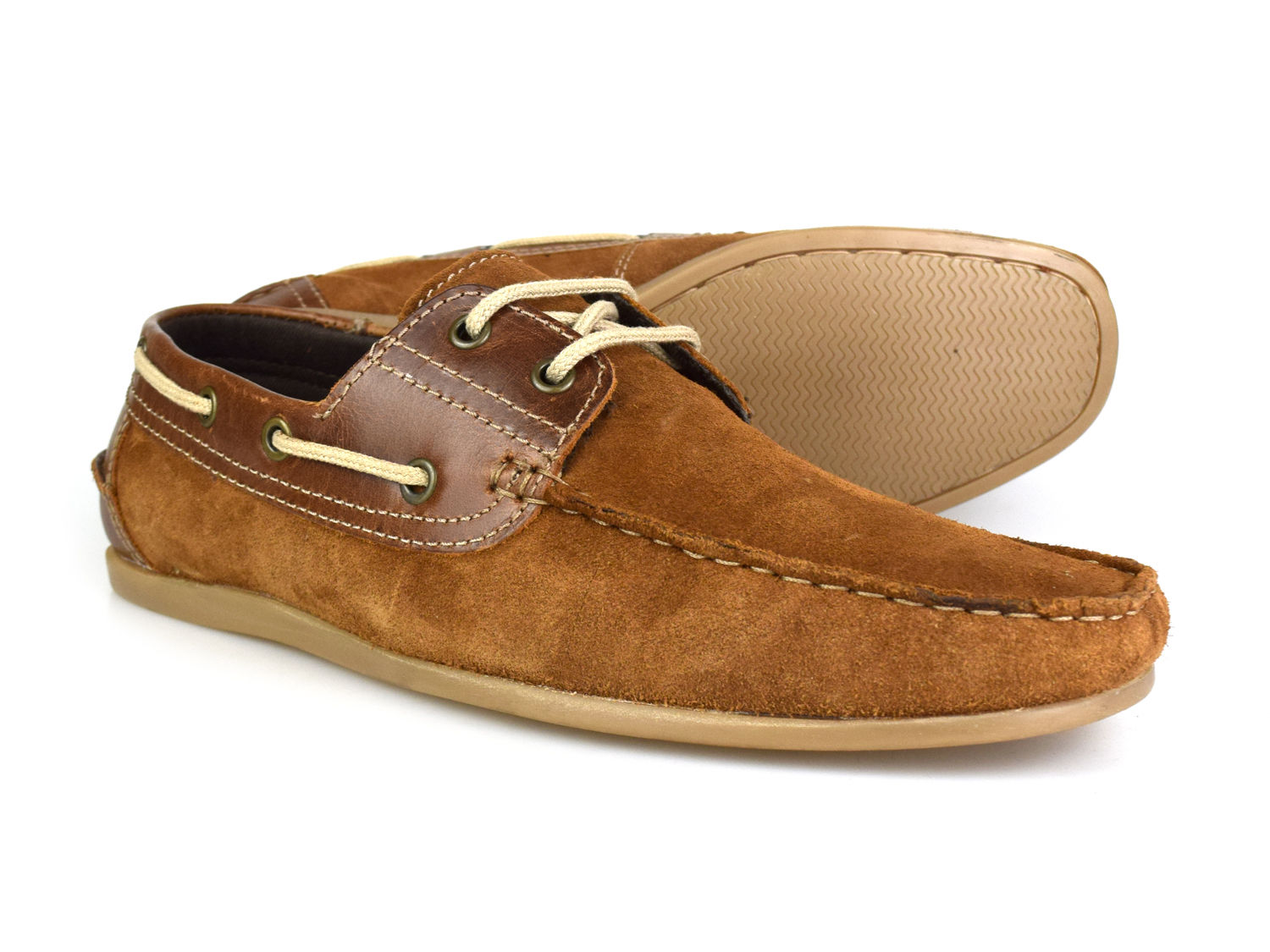 Red Tape Sandy Tan Suede Mens Casual Boat Shoes RRP £45 Free UK P/&P!