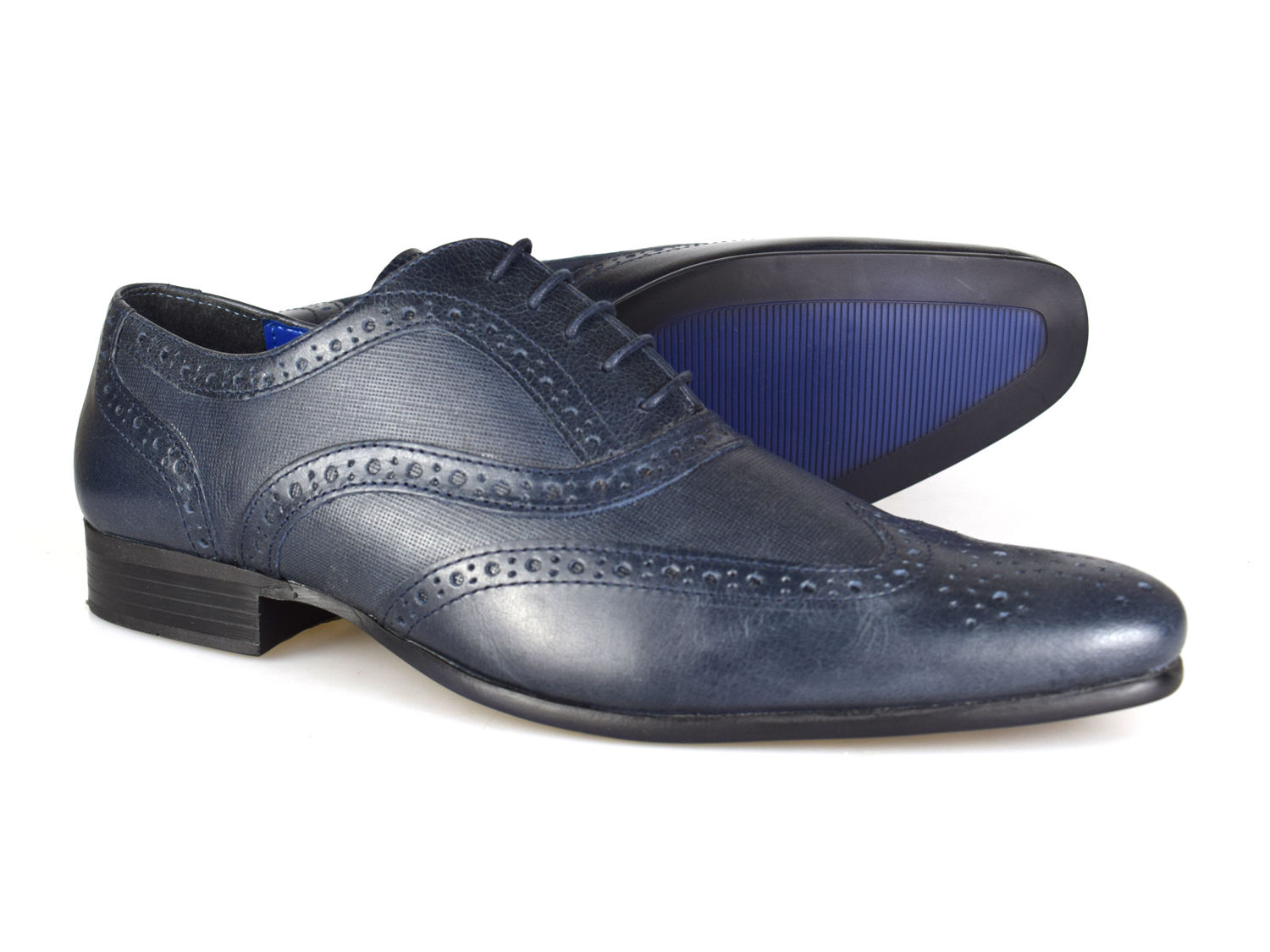 Red Tape Carn 2 Navy Leather Mens Brogue Formal Shoes Uk 7 12 Free