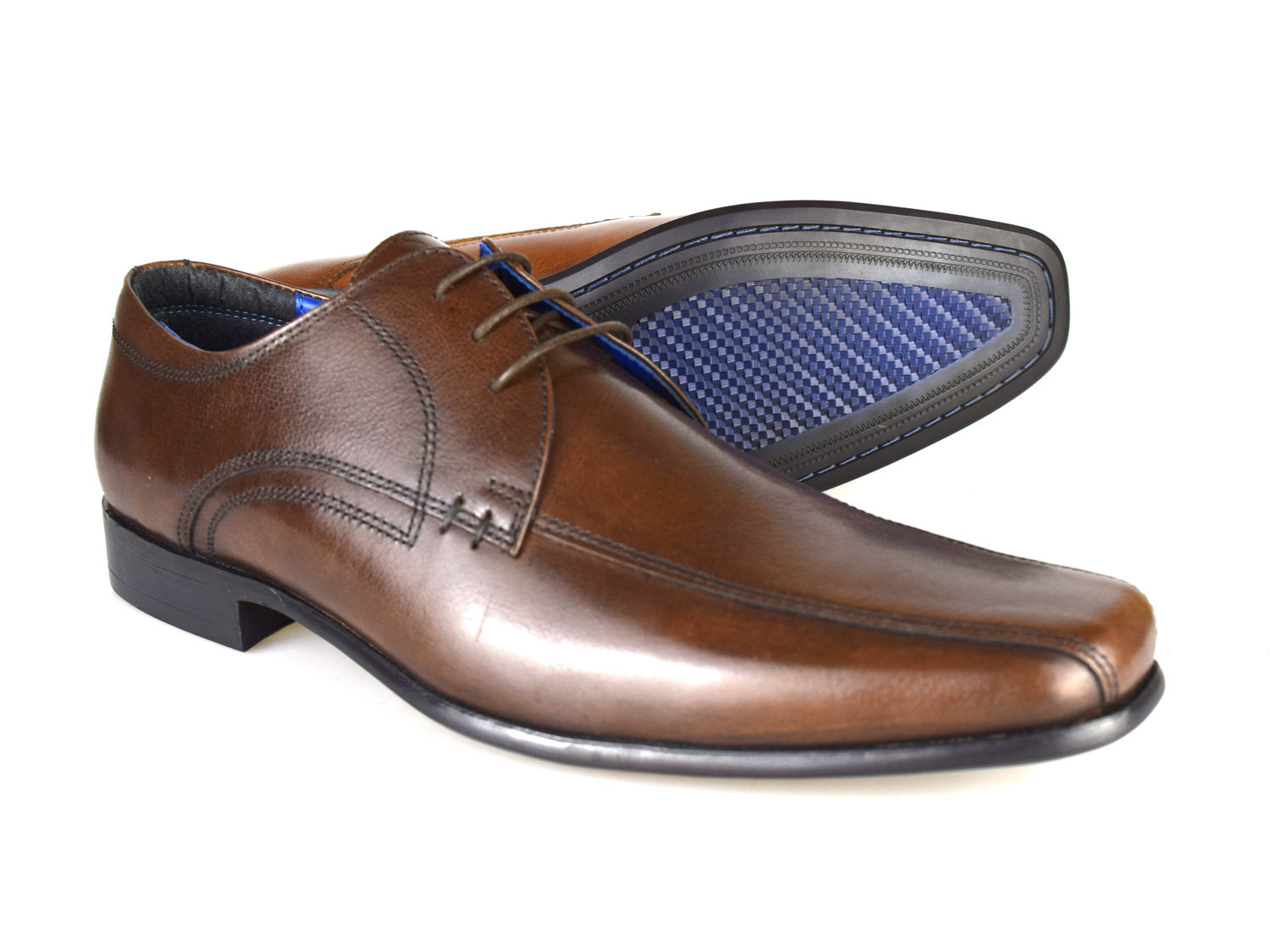 Red Tape Munster MARRONE MEN'S LEATHER Formale Lace-Up Scarpe RRP £ 45 GRATIS UK P & P!