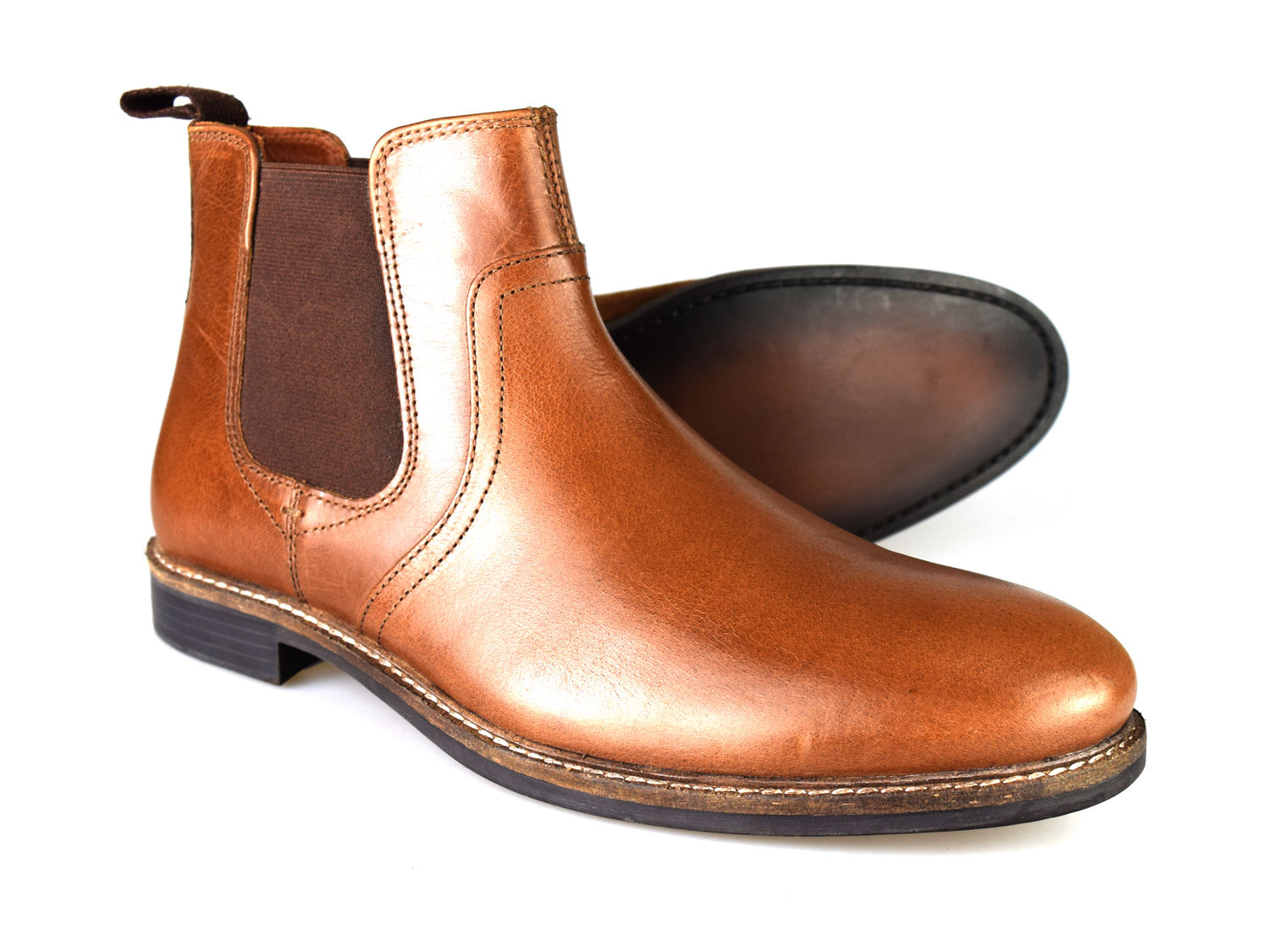 02b5cdd0114 This is a fantastic pair of men's leather boots from Red Tape. They look  fantastic in this modern chunky yet formal style. They are a very  comfortable pair ...