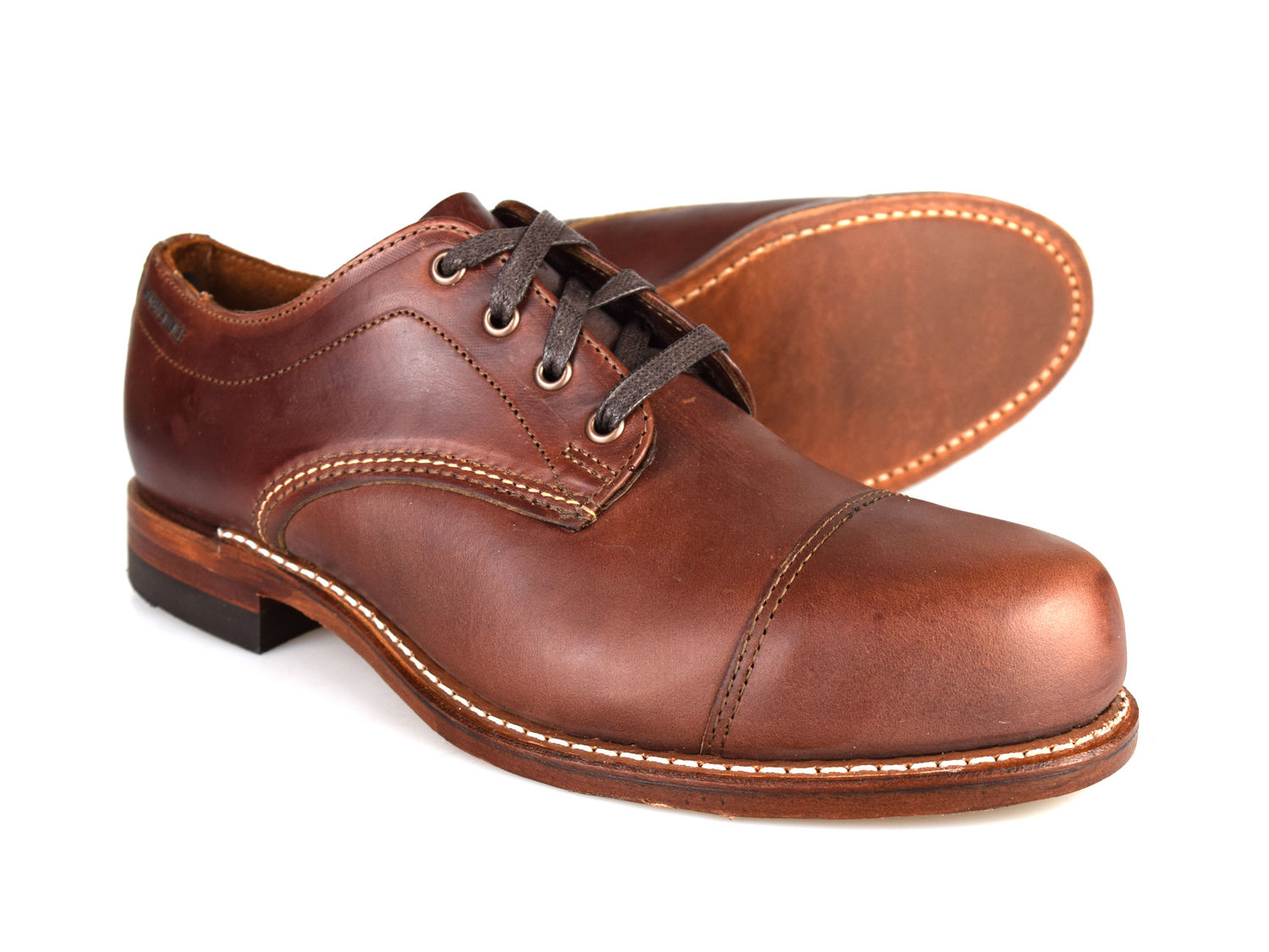 Details about Wolverine 1000 Miles Watson Welted Horween Leather Brown Mens Shoes