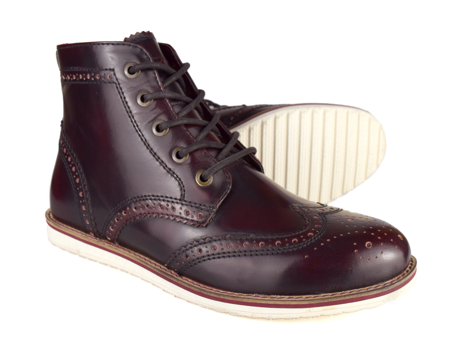 Red Tape Carrick Men's Oxblood Leather Chukka Boots | eBay
