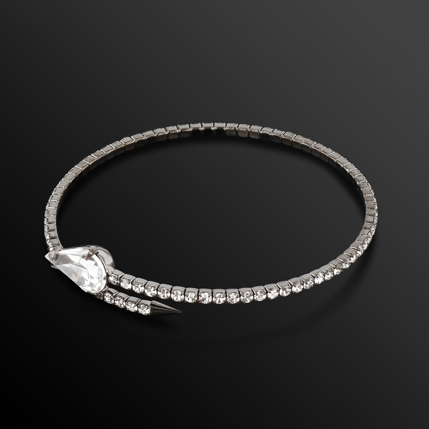 Womens-Ladies-Fashion-Accessories-Jewelry-Single-Crystal-Spear-Bangle-Bracelet thumbnail 6