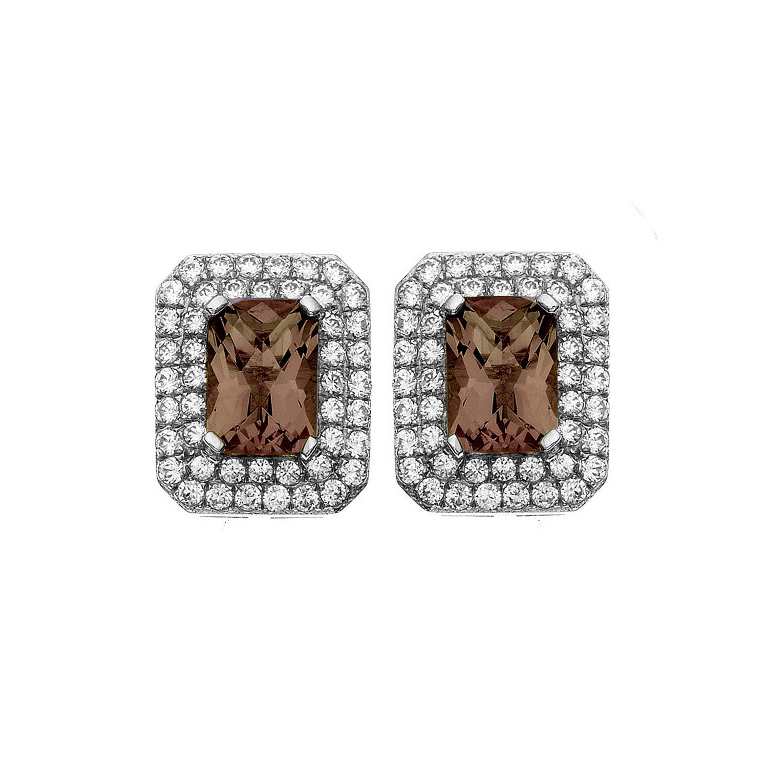 Platinum-Plated-Silver-Rectangle-Cut-Gemstone-Pave-CZ-Earring