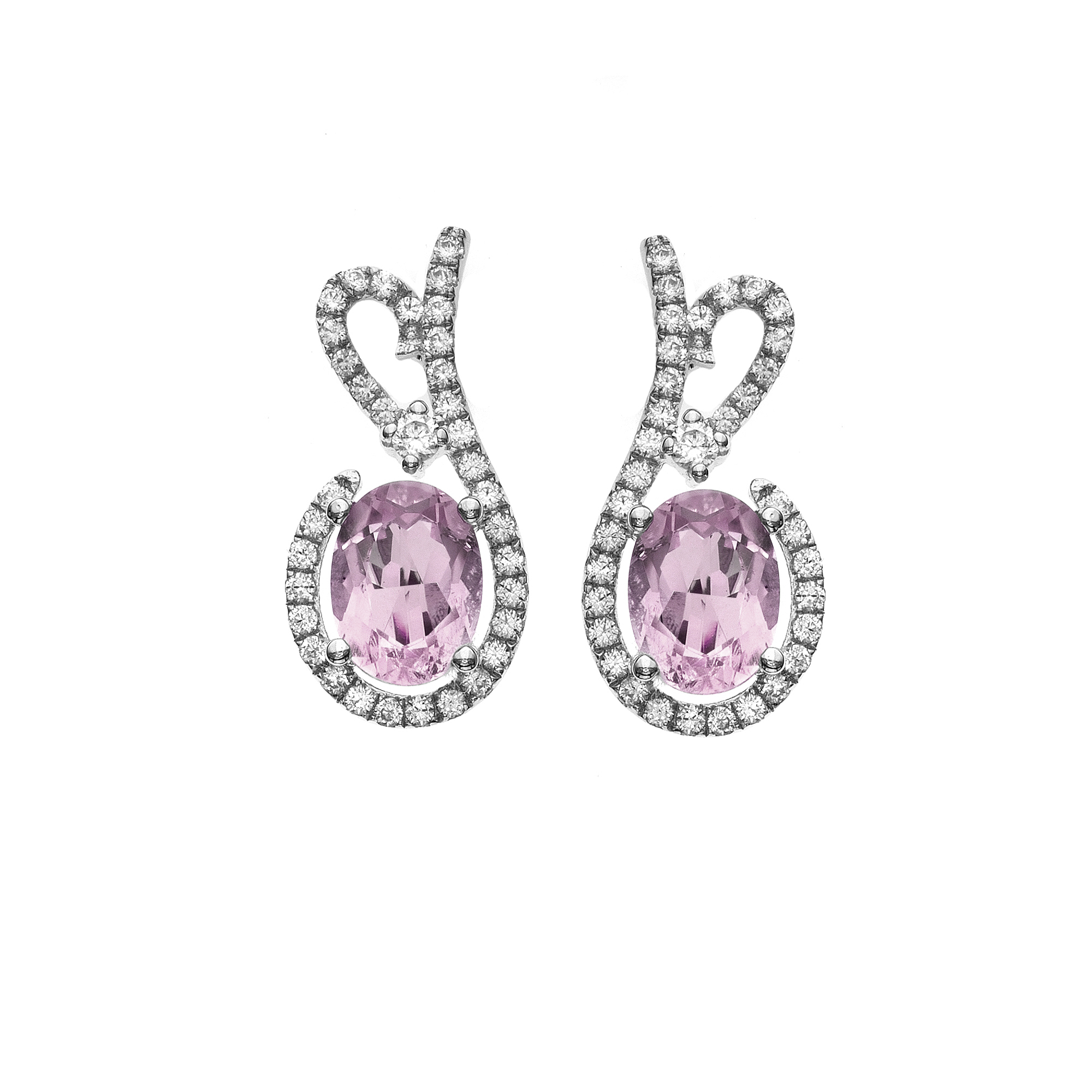 Platinum-Plated-Sterling-Silver-Floral-Lace-Cut-Gemstone-Pave-CZ-Earring
