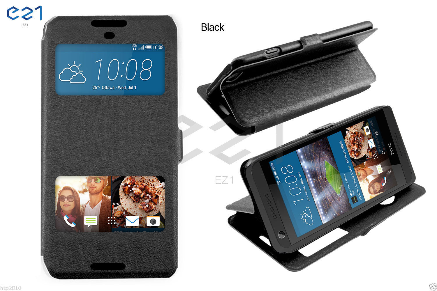 size 40 2903c b918d Details about New S-View Swipe Window Flip Case Cover For HTC Desire 626 AU