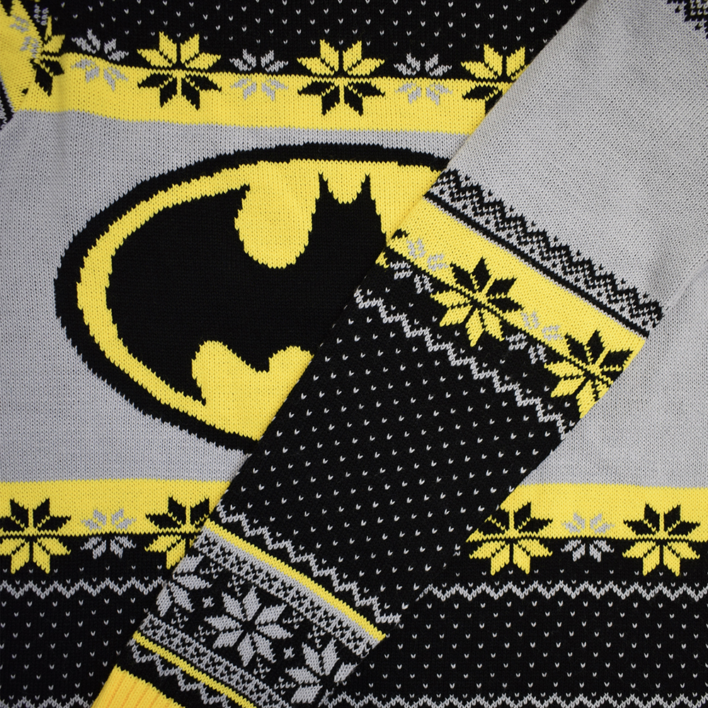 Official-Batman-Christmas-Jumper-Ugly-Sweater thumbnail 12
