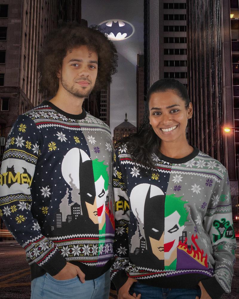 Official-Batman-vs-Joker-Christmas-Jumper-Ugly-Sweater thumbnail 9