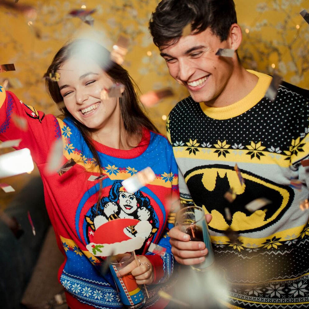 Official-Batman-Christmas-Jumper-Ugly-Sweater thumbnail 10