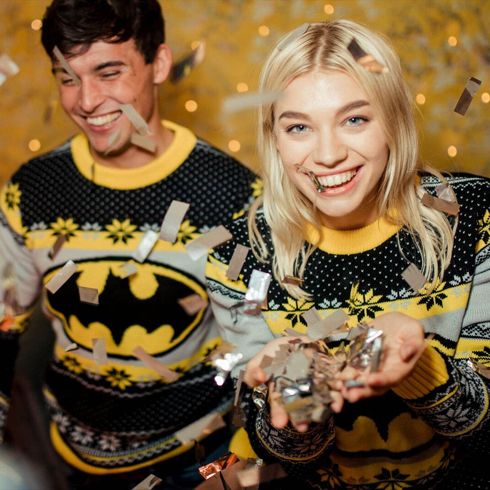 Official-Batman-Christmas-Jumper-Ugly-Sweater thumbnail 9