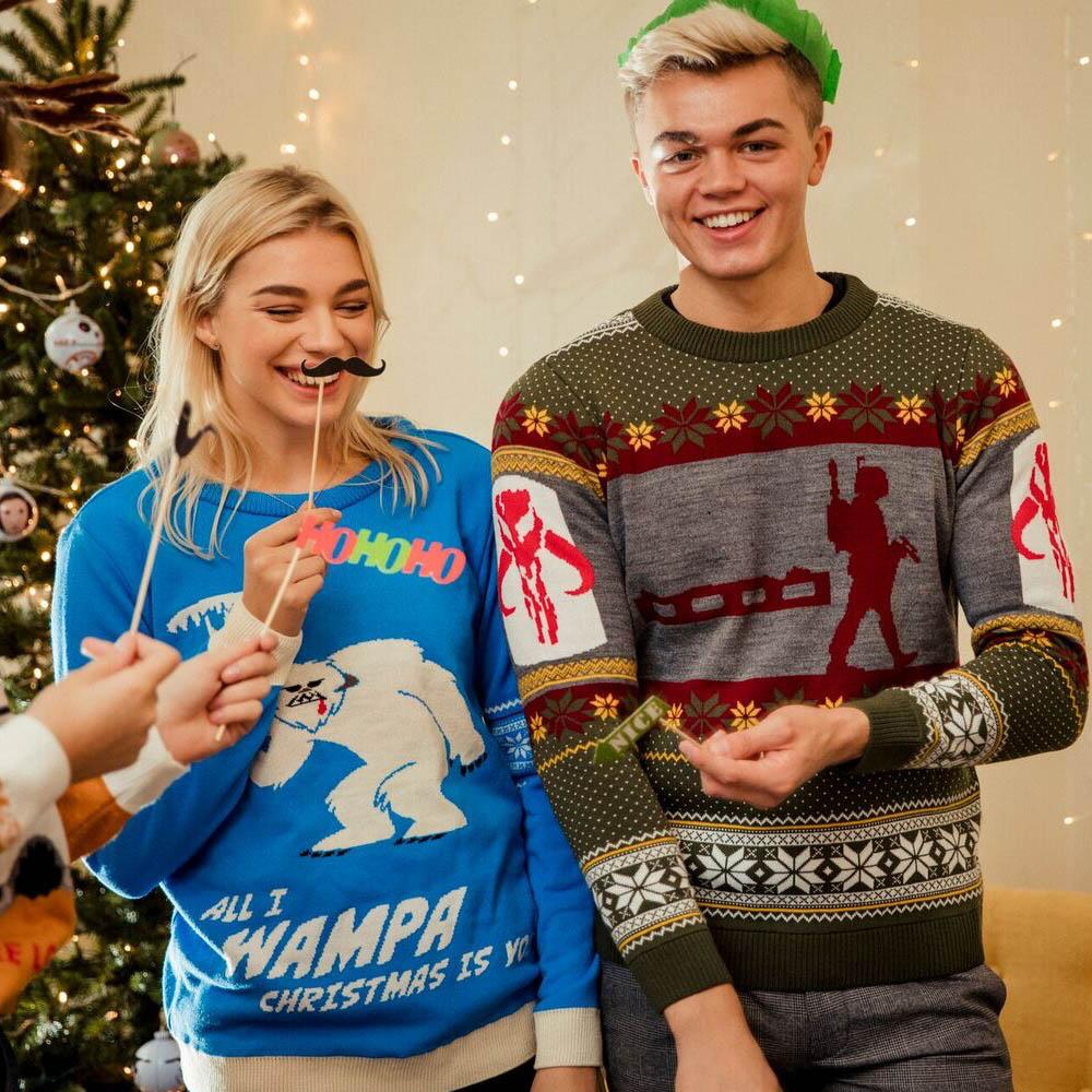 Official-Star-Wars-Boba-Fett-Nordic-Christmas-Jumper-Ugly-Sweater thumbnail 9