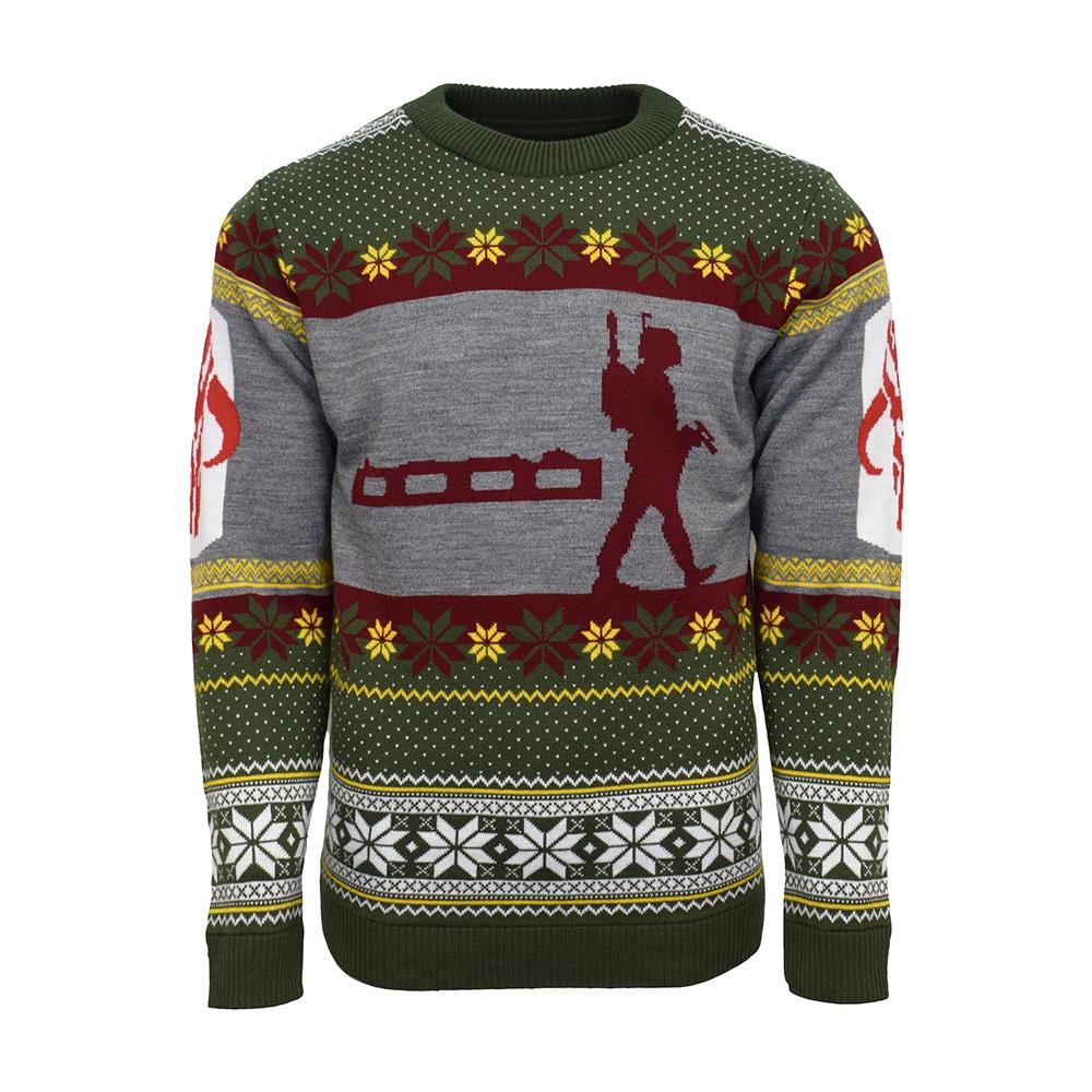Official Star Wars Boba Fett Nordic Christmas Jumper / Ugly Sweater - Uk M / Us S