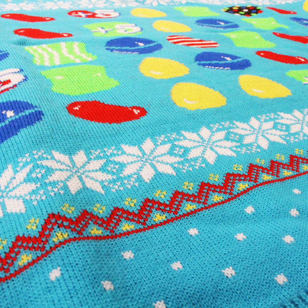 candy crush official sweet blue unisex christmas xmas jumper