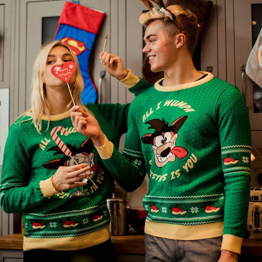 Official-Crash-Bandicoot-Christmas-Jumper-Ugly-Sweater thumbnail 9