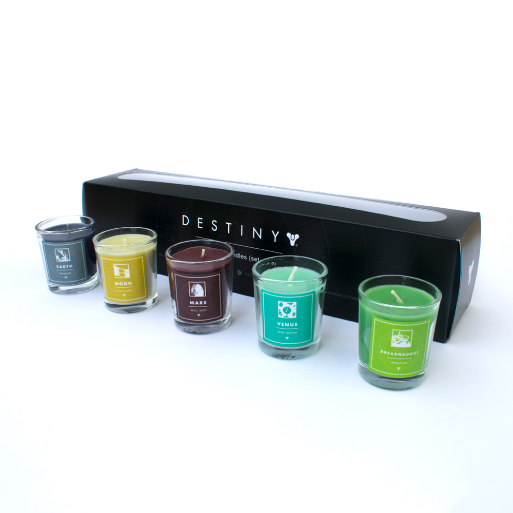 Official Destiny Planet Scented Candles Pack Of 5
