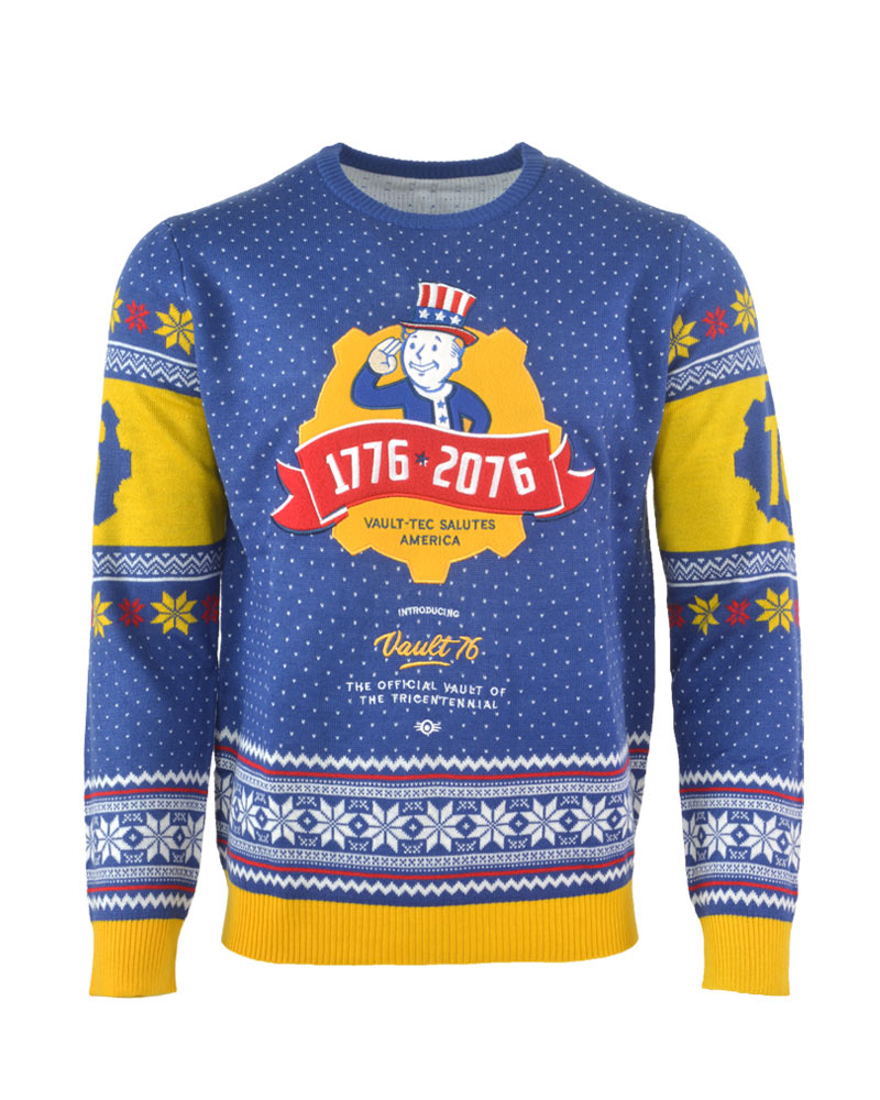 Vault Tec Christmas Sweater.Details About Official Fallout 76 Christmas Jumper Ugly Sweater