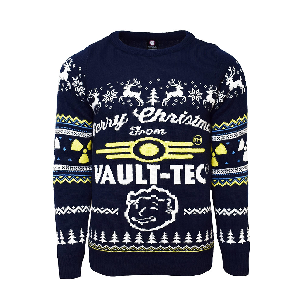 Official Fallout 4 Vault Tec Christmas Jumper / Ugly Sweater Uk S/us Xs
