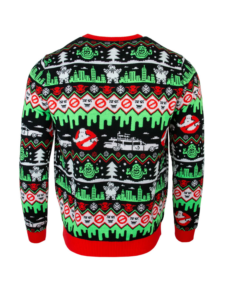 Official-Ghostbusters-Christmas-Jumper-Ugly-Sweater thumbnail 11