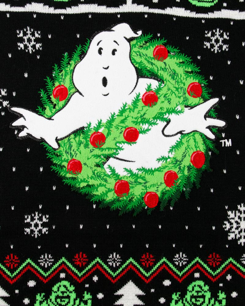 Official-Ghostbusters-Christmas-Jumper-Ugly-Sweater thumbnail 10