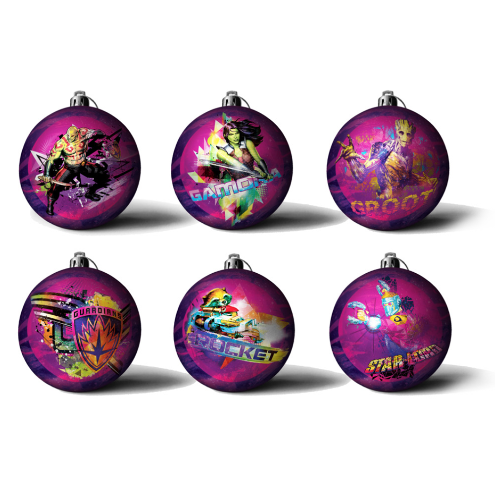 Official Guardians Of The Galaxy Christmas Baubles