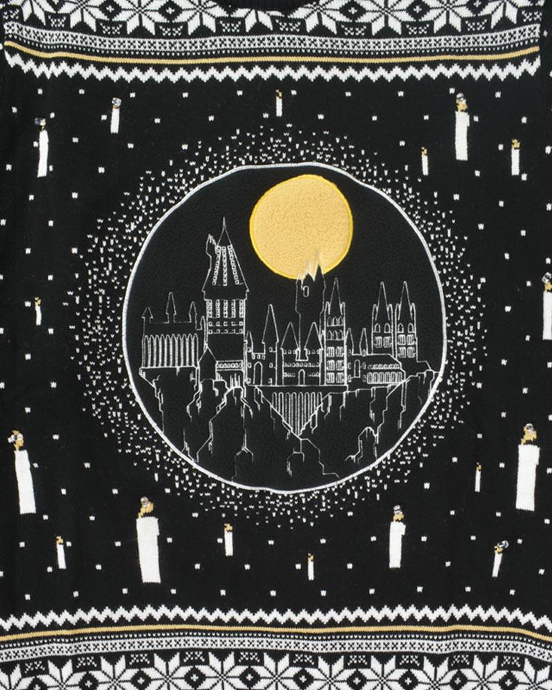Harry-Potter-Hogwarts-Castle-LED-Christmas-Jumper-Ugly-Sweater thumbnail 12