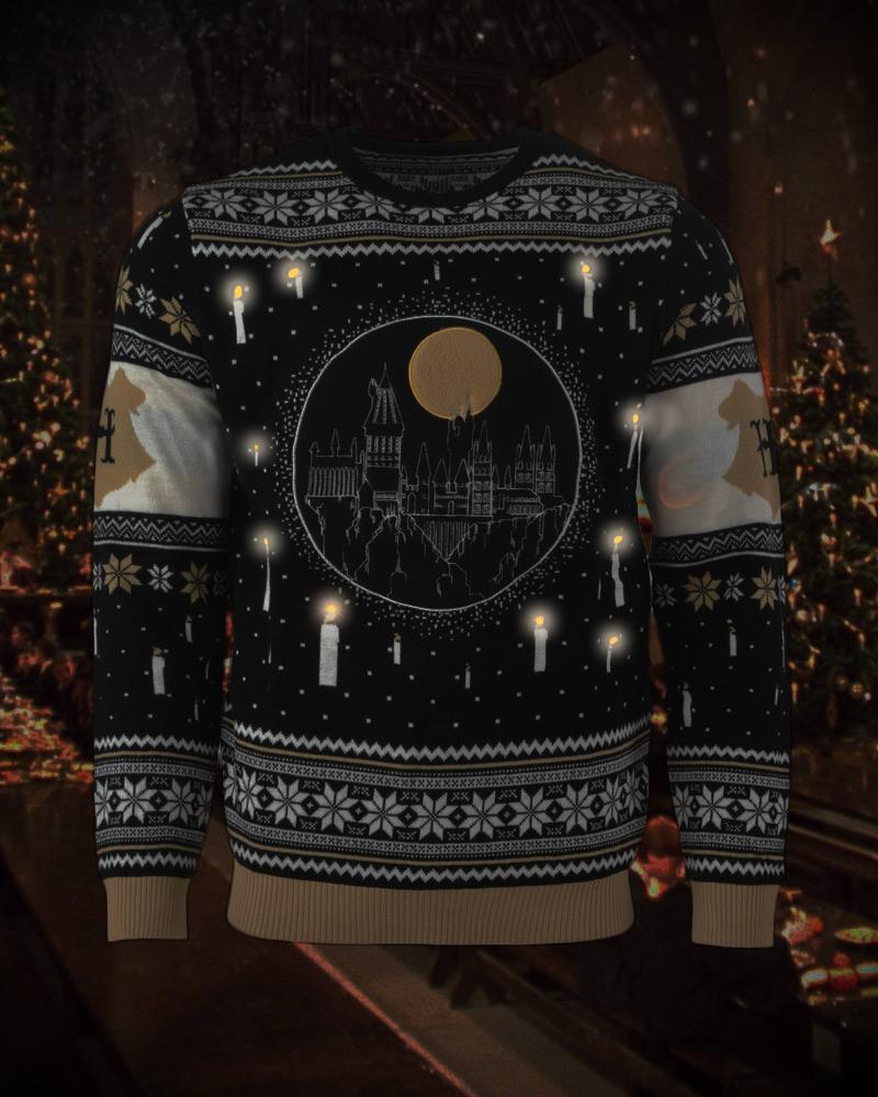 Harry-Potter-Hogwarts-Castle-LED-Christmas-Jumper-Ugly-Sweater thumbnail 13
