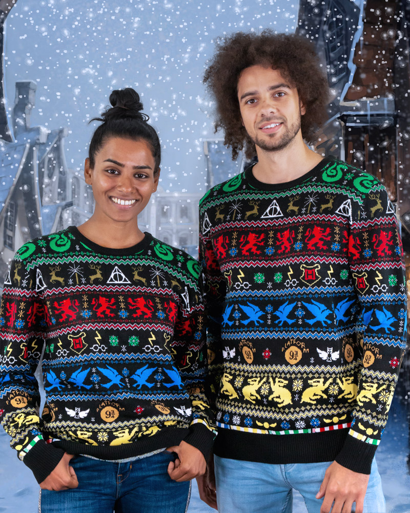 Official-Harry-Potter-Houses-Christmas-Jumper-Ugly-Sweater thumbnail 9