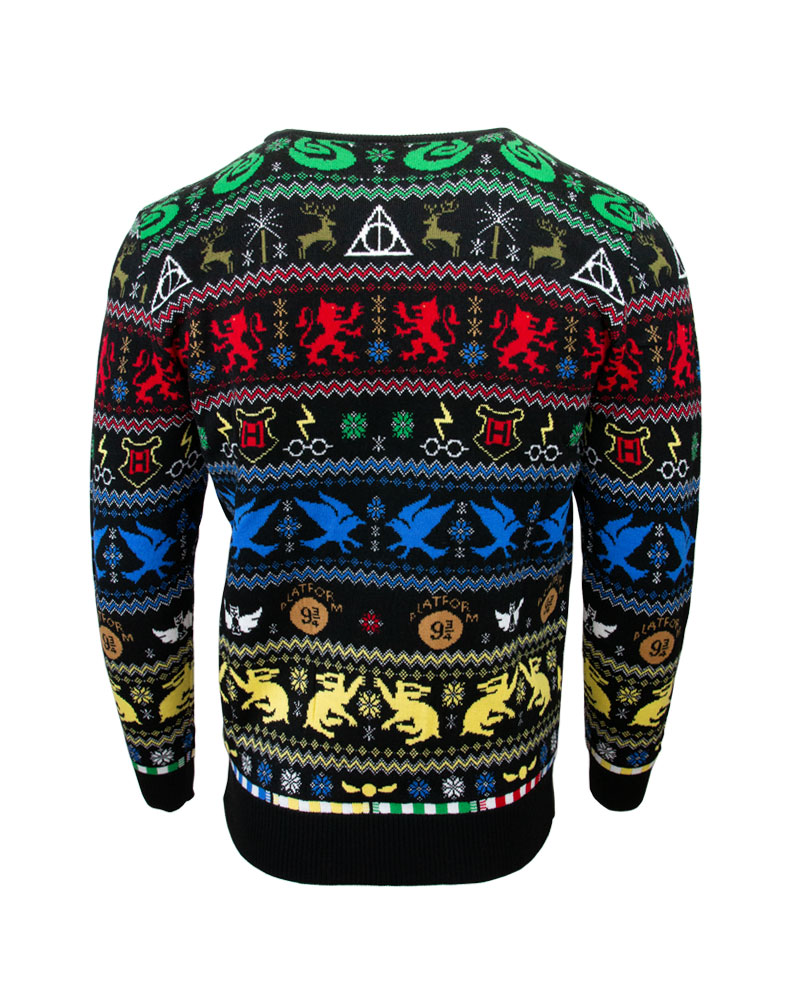 Official-Harry-Potter-Houses-Christmas-Jumper-Ugly-Sweater thumbnail 11