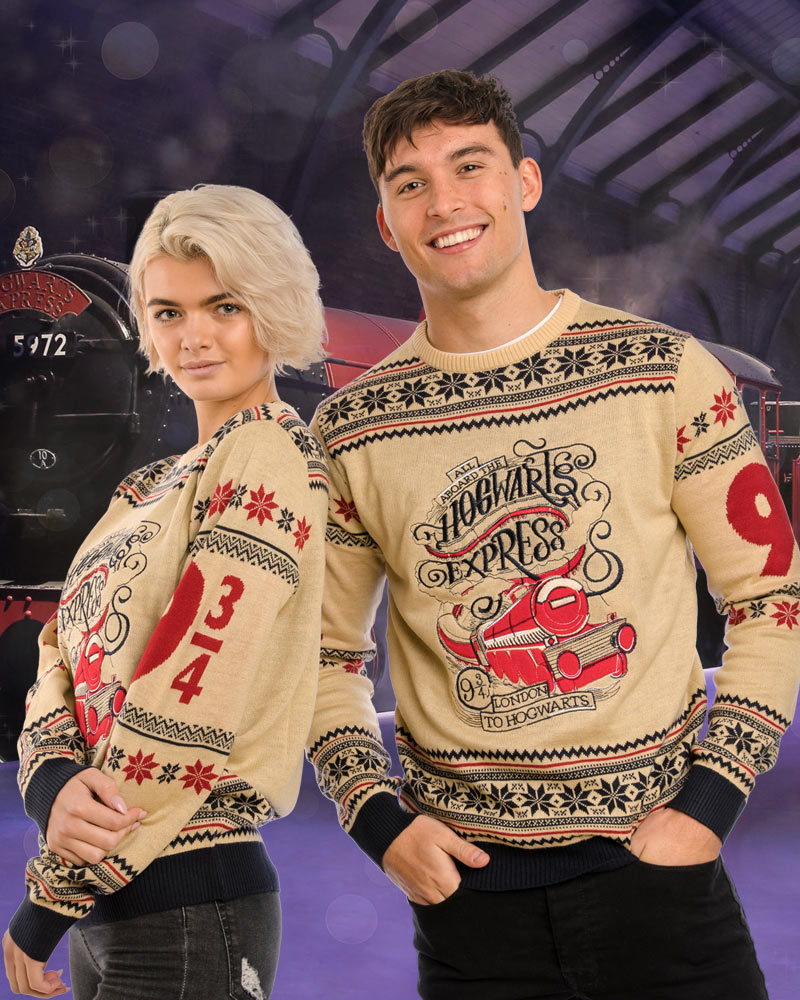 Official-Harry-Potter-Hogwarts-Express-Christmas-Jumper-Ugly-Sweater thumbnail 8