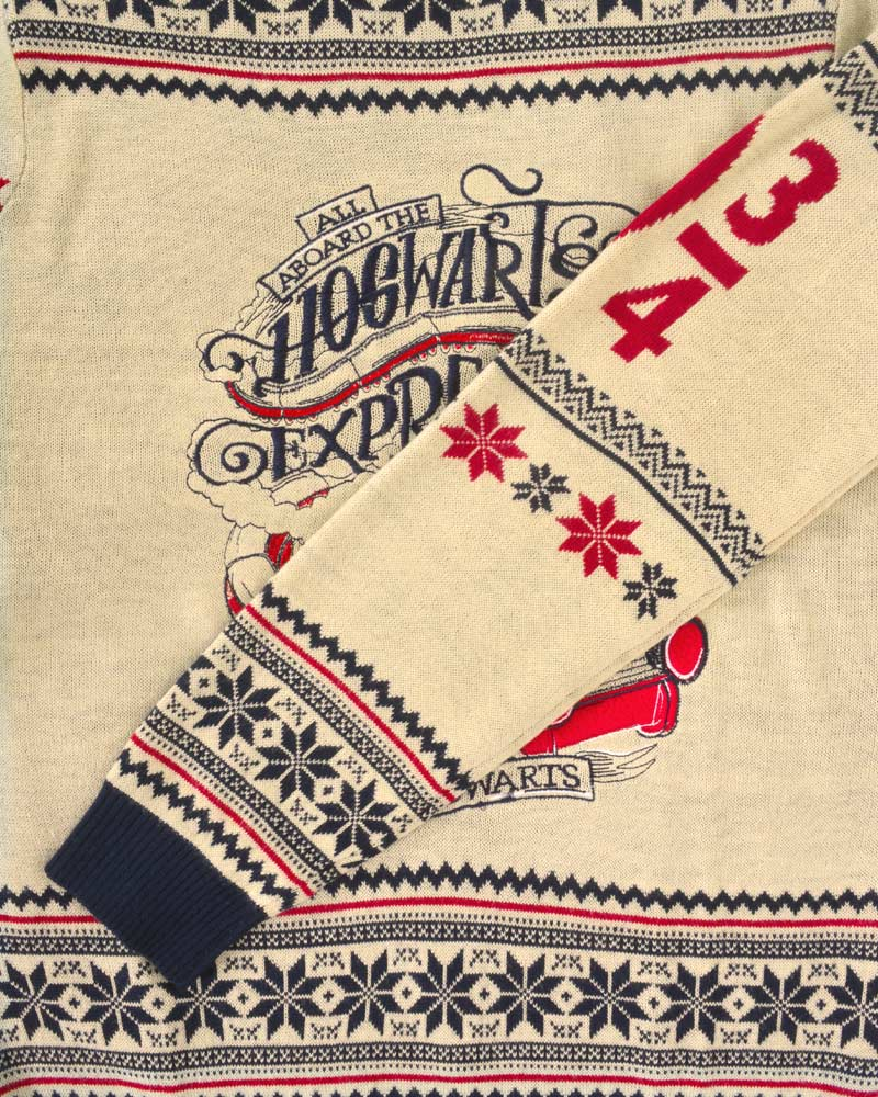 Official-Harry-Potter-Hogwarts-Express-Christmas-Jumper-Ugly-Sweater thumbnail 10