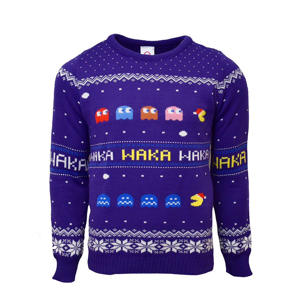 Official Pac-man Christmas Jumper / Ugly Sweater - Uk Xs / Us 2xs