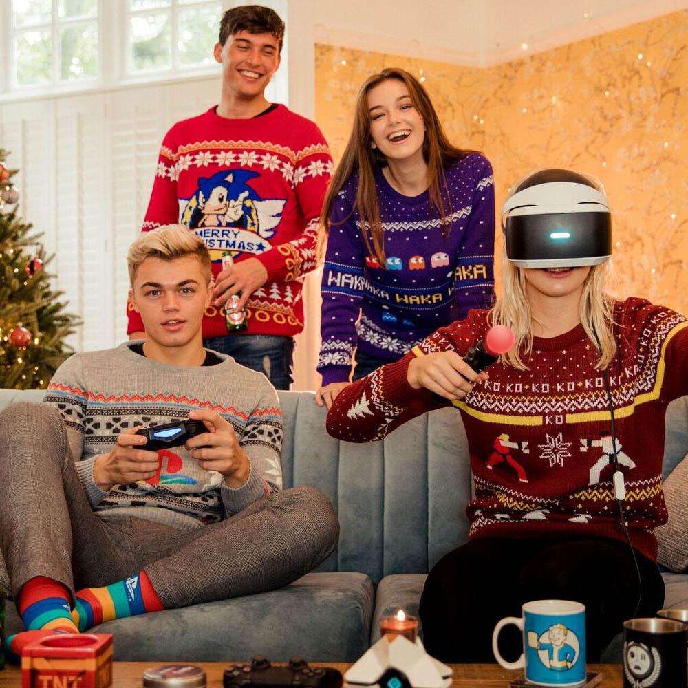 Pac-Man-Waka-Waka-Official-Unisex-Christmas-Xmas-Jumper-Sweater thumbnail 9