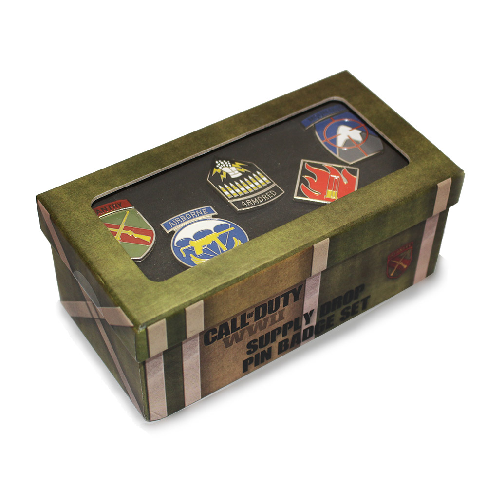 Official Call Of Duty Supply Drop Pin Badge Set