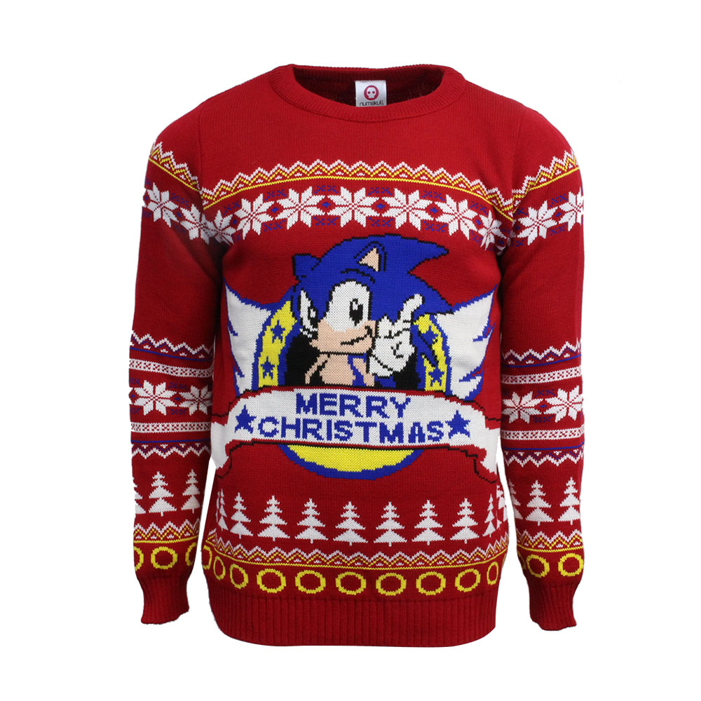 Official Classic Sonic Christmas Jumper / Ugly Sweater Uk M/us S