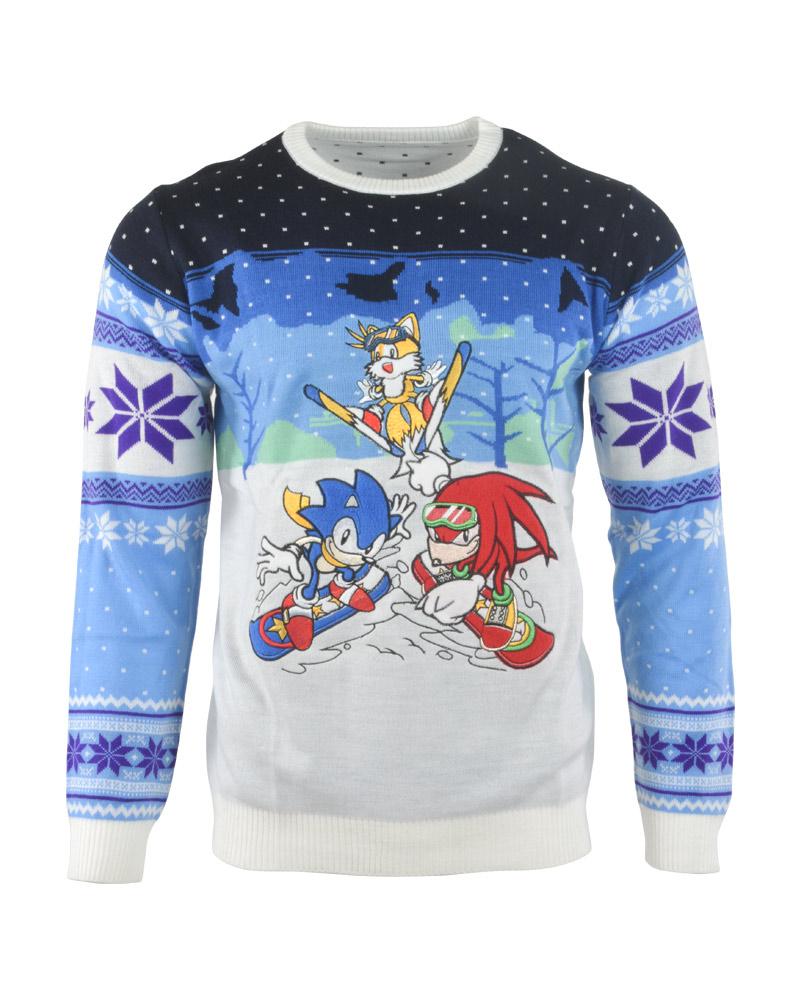 Hedgehog Christmas Jumper.Details About Official Sonic The Hedgehog Skiing Christmas Jumper Ugly Sweater