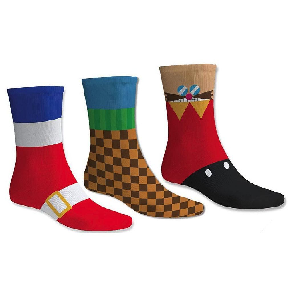 Official Sonic The Hedgehog Cotton Socks (3 Pairs)