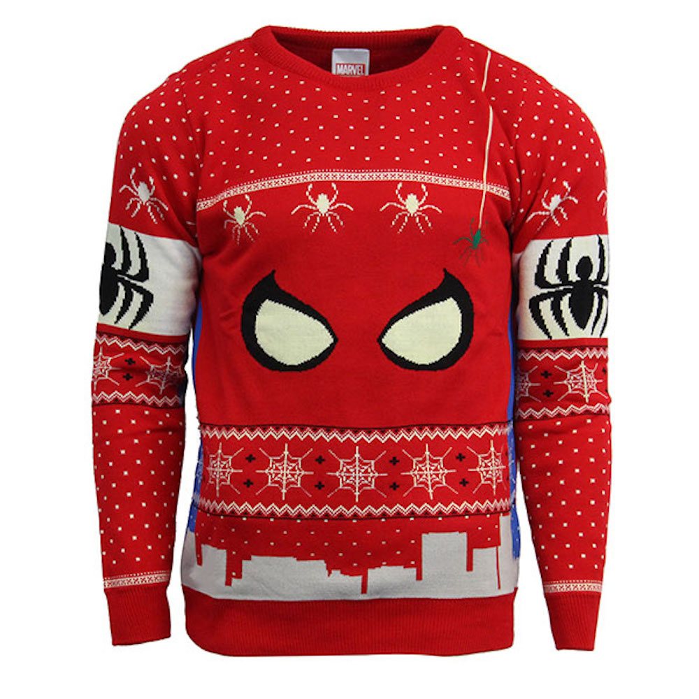 Official Marvel Spiderman Christmas Jumper / Ugly Sweater - Uk Xl/us L