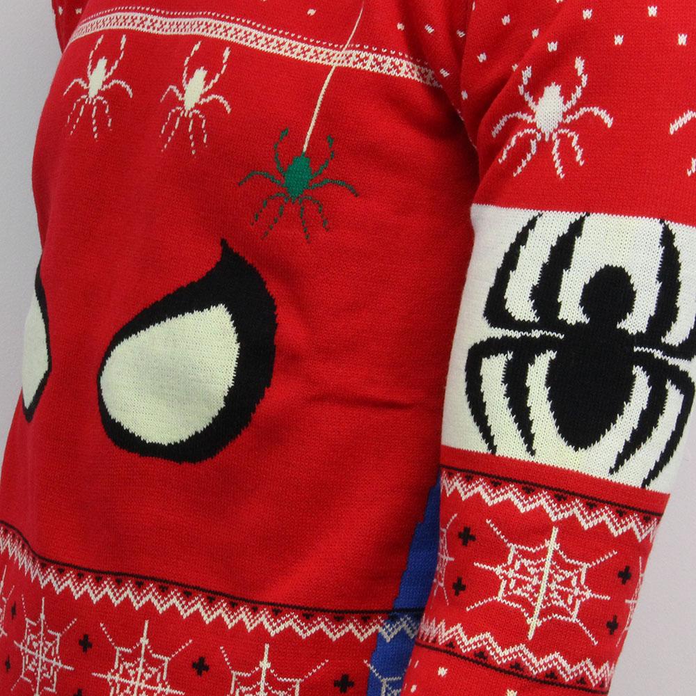 Marvel Official Spiderman Mask Unisex Christmas Xmas Jumper ...