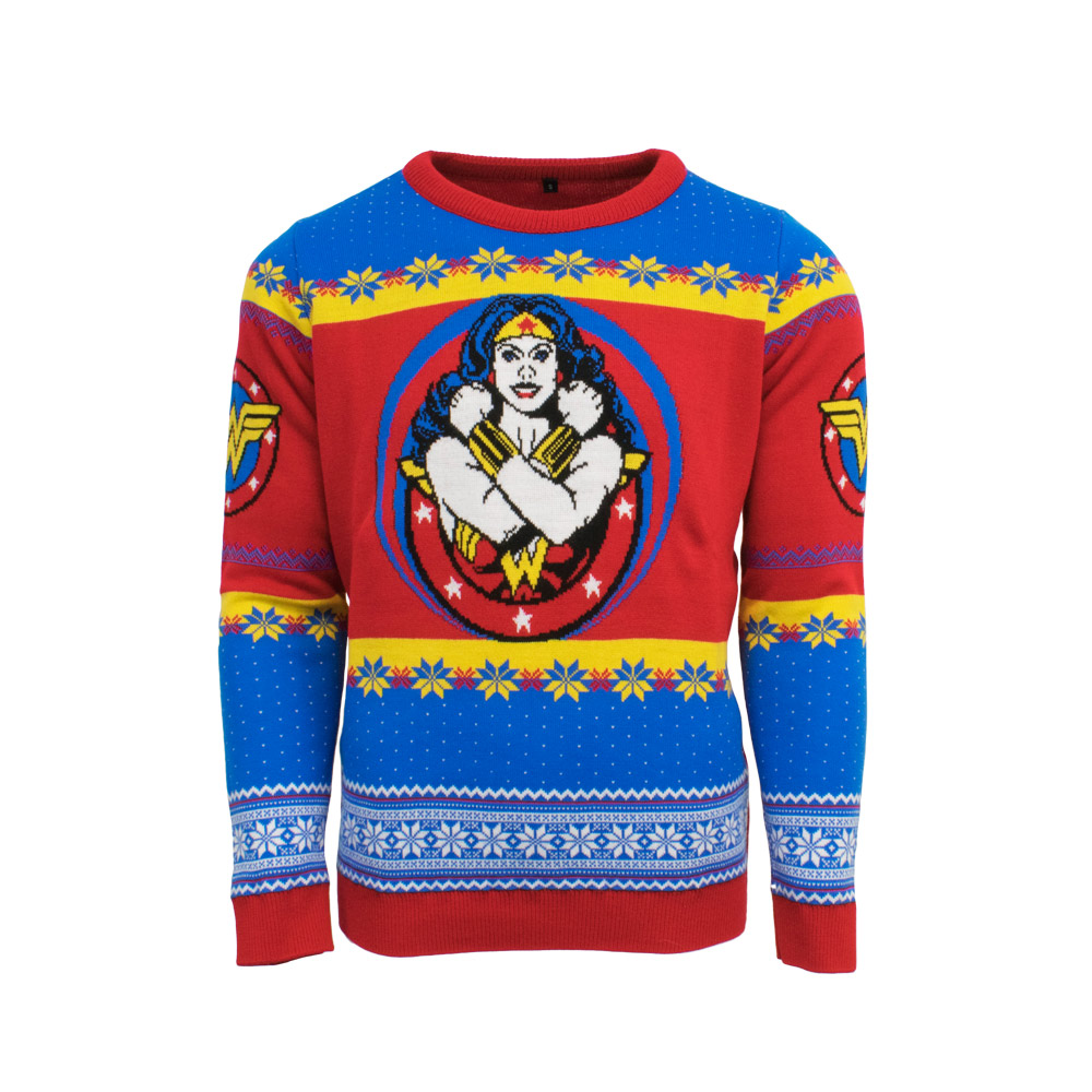 Official Wonder Woman Christmas Jumper / Ugly Sweater  - Uk L / Us M