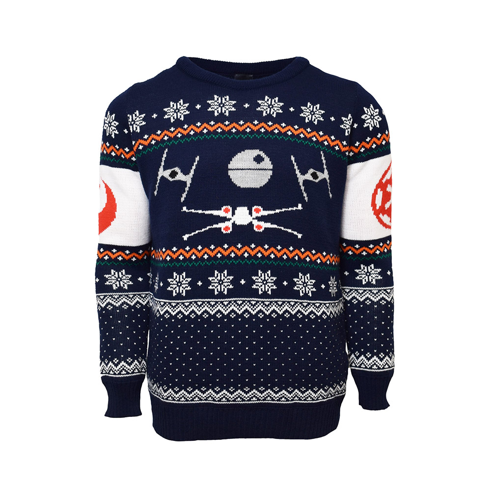 Official X-wing Vs. Tie Fighter Star Wars Christmas Jumper / Ugly Sweater Uk Xs/us 2xs
