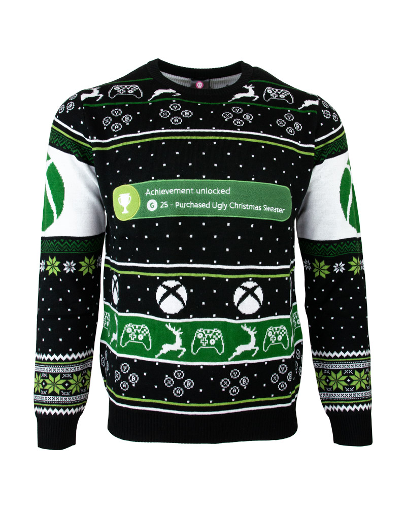 Details about Official Xbox One Achievement Unlocked Christmas Jumper Ugly Sweater