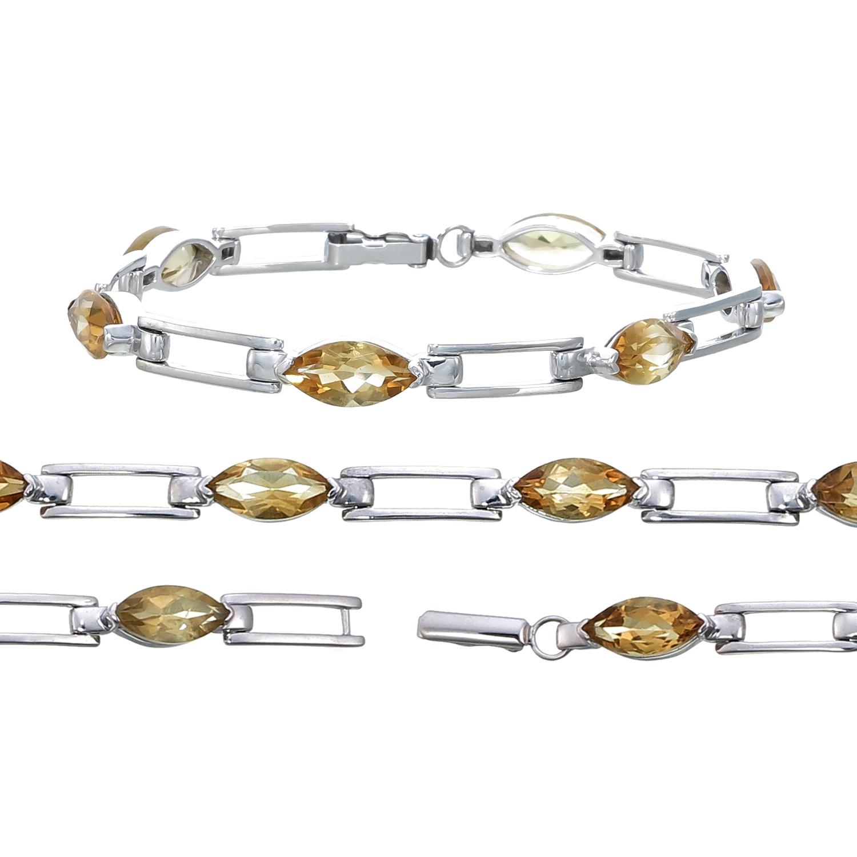e002364b72d192 Details about Sterling Silver Citrine Bracelet (7 CT)